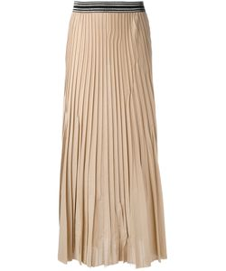 Nude | Elasticated Waistband Pleated Skirt