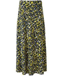 Cédric Charlier | Foral Print Midi Skirt 44 Silk