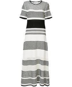 Novis | Striped Flared Midi Dress Cotton/Viscose/Mulberry Silk/Tussar