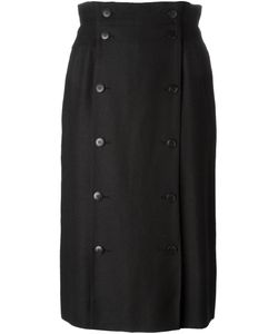 Jean Louis Scherrer Vintage | Double Breasted Button Skirt