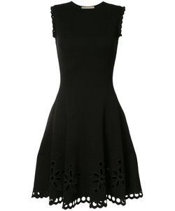 Carolina Herrera | Broderie Anglaise Tweed Knit Jacquard Dress Size Large