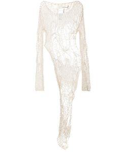 Isabel Benenato | Open Knit Asymmetric Blouse 42
