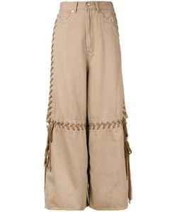 G.V.G.V. | Lace-Up Wide Leg Jeans 34 Cotton