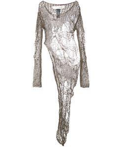 Isabel Benenato | Open Knit Asymmetric Dress 42