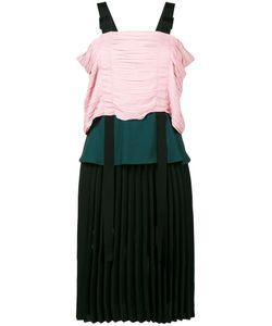Marco de Vincenzo   Pleated Strap Dress Size 44