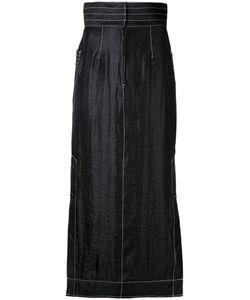 G.V.G.V. | Contrast Stitch Maxi Skirt 34 Nylon/Polyester/Rayon