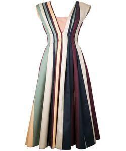 Paule Ka | Striped Pleated Dress
