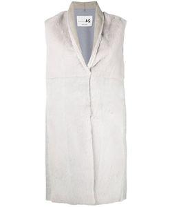 Manzoni 24 | Concealed Fastening Sleeveless Jacket Mink