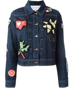 Michaela Buerger | Eternal Sum Love Knitted Applique Denim Jacket
