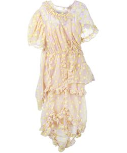 Simone Rocha | Embroidered Frill Dress Cotton/Polyamide/Polyester/Pbt