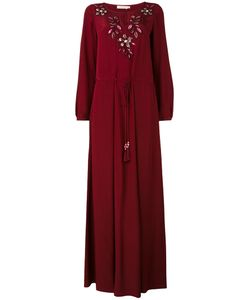 Tory Burch   Embroidered Flower Maxi Dress
