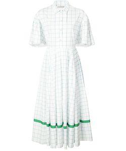 Vika Gazinskaya   Checked Flared Buttoned Dress