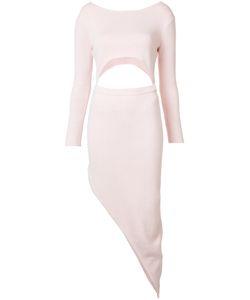 Baja East | Asymmetric Cut-Out Dress