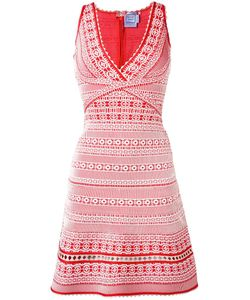 Hervé Léger   Embroidered Dress Xs
