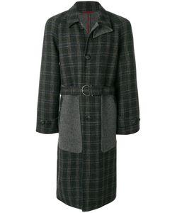 Salvatore Ferragamo   Panelled Checked Coat