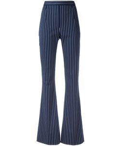 Pierre Balmain | Striped High-Waisted Trousers Size 38