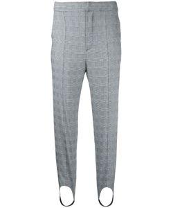 Le Ciel Bleu | Checked Strap Detail Trousers Size
