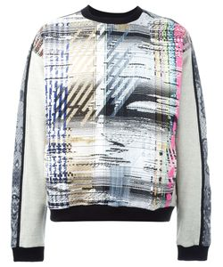 James Long | Trim Detail Multipattern Sweater
