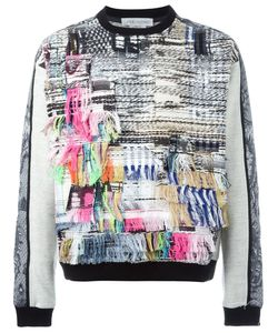 James Long | Frayed Patchwork Detail Sweater