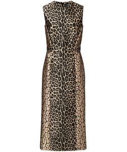 J. Mendel | Leopard Print Fitted Dress