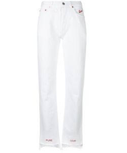 Forte Couture   Embroidered Lovers Jeans