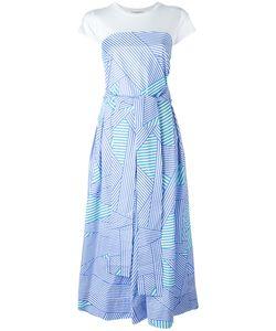 Erika Cavallini | Striped Trim Flared Dress Size 44