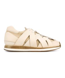 Hender Scheme | Criss Cross Effect Sneakers 42 Leather/Pig