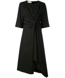 Marni | Knot Front Asymmetric Midi Dress