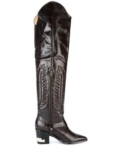 Toga Pulla | Embossed Thigh High Boots 38