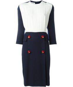 Gianfranco Ferre Vintage | Contrasting Panel Midi Dress