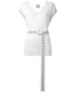 Laneus | Belted Stud Detail Vest Size 44