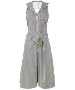 Chloé | Pinstriped Dungaree Jumpsuit 42