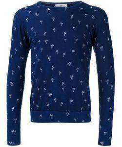 Paolo Pecora | Palm Print Sweater Size Large