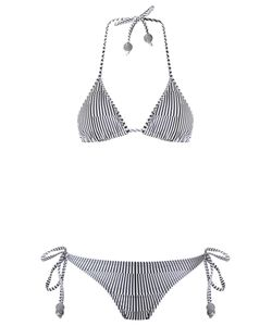Amir Slama | Striped Triangle Bikini Set G Elastodiene