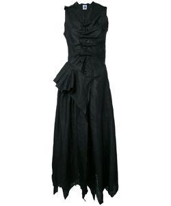 Aganovich | Draped Buttoned Midi Dress