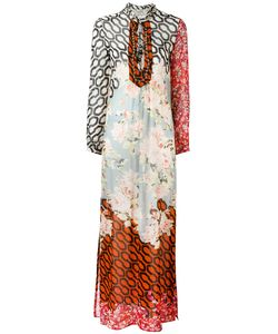 Amen | Multi-Print Shift Maxi Dress Silk /Glass