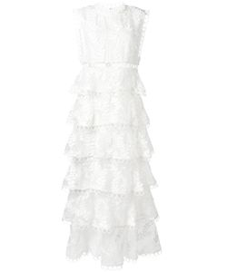 Zimmermann | Winsome Embroidered Tiered Dress Size