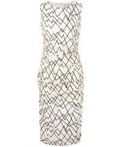 Eggs   Geometric Print Fitted Dress