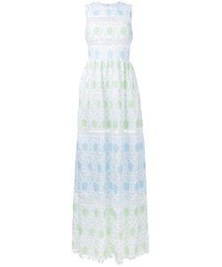 Huishan Zhang   Sleeveless Lace Overlay Dress