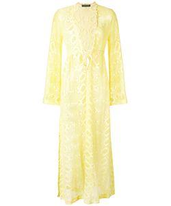 Roberto Cavalli | Flared Sleeves Sheer Dress