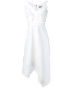 Preen by Thornton Bregazzi | Ruffle Appliquée Asymmetric Dress