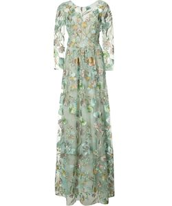 Marchesa Notte | Embroidery Sheer Gown Size 12