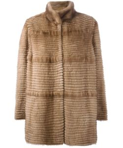 Liska | Cashmere Stand Up Collar Coat Medium Mink