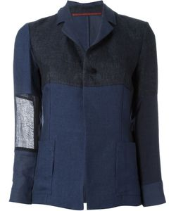 Daniela Gregis | Tonal Patchwork Lightweight Single-Breasted Blazer
