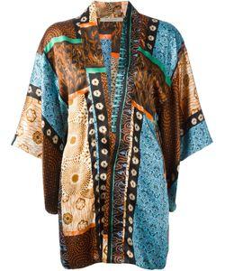 Ermanno Gallamini | Patchwork Print Kimono Top