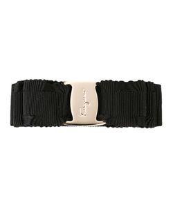 Salvatore Ferragamo | Logo Embossed Bow Hair Clip Cotton/Rayon/Plastic/Brass