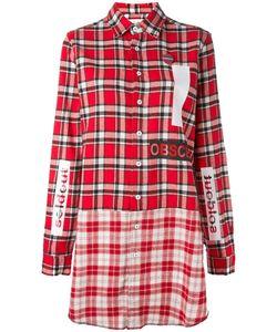 Sold Out Frvr | Plaid Shirt Dress Medium Cotton/Polyester/Other