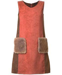 Loveless | Front Pockets V-Neck Dress 36 Polyester