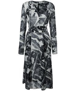 Veronique Leroy | Printed V-Neck Dress 38