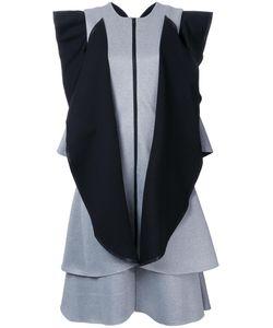 Robert Wun | Contrast Ruffle Dress 8